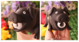Relax Toy of Vinyl Shrilling Crying Sound Pig Black