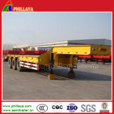 Heavy Duty Towing Tri Axles Excavator Lowbed Truck Semi Trailer