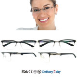 Optical Frames Manufacturers in China Metal Optical Frames with Hinge for Women