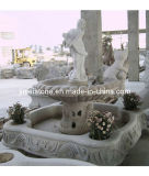 White Exterior Carving Marble Sculpture Stone Sculptured Fountain