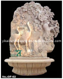 Stone Fountain Carved Marble Water Fountain for Garden Outdoor (YKOF-12)