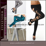 Wholesale Women Fashion Cut-out and Printing Leggings Pants
