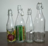 Glass Bottle with Swing Top for Beer, Water, Juice