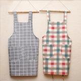 Fashion Simple Plaid Cotton Kitchen Apron for Cooking
