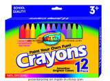 12PCS Color Crayons for School Children