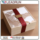 Wood Watch Jewelry Box Wine Wood Gift Box Wood Storage Music Wood Tea Pen Box Packing Packaging Cigarette Perfume Box (lw011b)