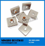 Strong Countersunk Block Magnet