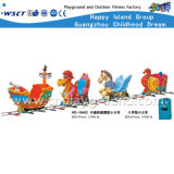 4 Seats Cartoon Electric Mini Train Kids Outdoor Play Equipment (HD-10402)