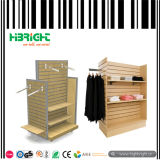 Clothes MDF Slatwall Display Stand