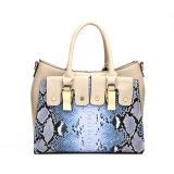 Blue Hard Woman Snake Skin Designer Handbags (MBNO038016)