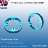Blue Anodize Aluminum Ring CNC Turning Machinery Precision Parts