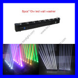 8*10W RGBW (white) LED Moving Head Beam Light