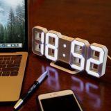 3D LED Digital Wall Clock with Three Brightness