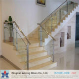 Clear/Sheet Toughened Glass for Stair Railings with Certification
