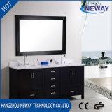 American Wood Vanity Bathroom Cabinet with Double Basin