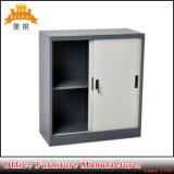 Low Half Height Small Steel 2 Doors Mini Cupboard Sliding Cabinet