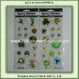 Custom Funny Cartoon Epoxy Laser Stickers for Kids′ Gift