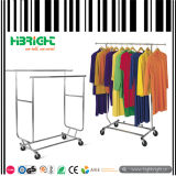 Metal Collapsible Rolling Clothes Rack