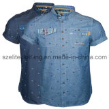Custom Made Cotton Mens Denim Shirt (ELTDSJ-40)
