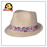 Print Ribbon Children Straw Hat