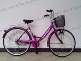 City Bicycle City Bike of Lady with Basket and Rear Carrier (HC-LB-39207)