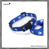 Navy Blue Paws Dog Collar