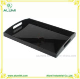 Hotel Guest Room Polish Black Acrylic Amenity Tray