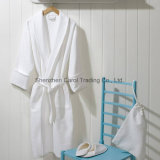 Hotel Textile Cotton White Fine Waffle Bathrobe