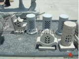 Stone Granite Cylindrical Lamp / Lanters for Outdoor Garden Landscape