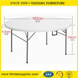 Outdoor HDPE Folding Plastic Round Picnic Table