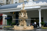 Egypt Cream Marble Stone Sculpture Fountain for Square Place (SY-201)