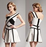One Shoulder A-Line Short Ladies Strapless Dress