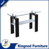 2 Layer Wooden MDF Glass TV Stand