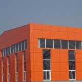 Orange Color Prefabricated Aluminum Panels for Cladding and Decoration of Facades