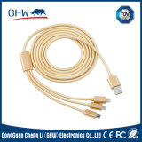 3 in 1 Coaxiel Cable for iPhone, Mi, Android