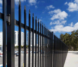 2.1m Powder Coated Commercial Steel Picket Fence for Australia