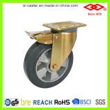 5 Inch Swivel Braked Rubber Industrial Castor (P160-73F125X50)