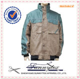 OEM Factory Custom Industrial Twill Jackets Workwear with Long Sleeve