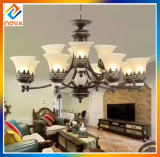 New Contemporary Pendant Chandelier Black Glass Light Fixture