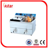 6L Industry Fryer for Sale, Aster 2 Tank 2 Basket Electric Fryer with Filter Hot in Brazil Malaysia Philipines