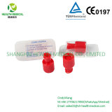 Red Combi Stopper/Luer Cap, Customized OEM in Blister Packaging