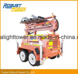Dual Axle Four Folded Hydraulic DC LED Mobile Light Tower