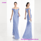 Wholesale Cheap Long Sheer Georgette Eveing Dress with Shawl Collar Face