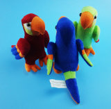 Stuffed Brazilian Macaw Toy 3 Asst.