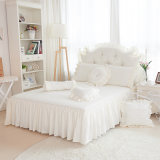 Cotton Silk Bedding Bag Lace Bedding Four White Bedspread for Summer
