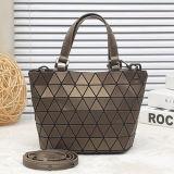 Small Size PU Rhombic Geometry Lady Handbag (A0107-5)