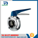 Dn20 DIN11850 AISI304 Sanitary Welded Butterfly Valve with CNC Machine
