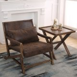 Nordic Style Leather Fabric Arm Chair