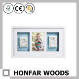 New Baby Gift Wood Baby Picture Photo Frame with Safe Clay