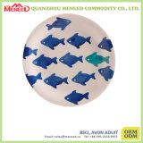 Round Fish Design Melamine Cookie Plate